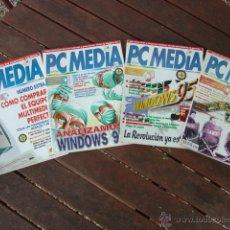 Coleccionismo de Revistas y Periódicos: LOTE 8 ANTIGUAS REVISTAS INFORMÁTICA PC MEDIA Nº 11, 12, 16, 18, 28, 29, 30 Y 31.. Lote 51196408