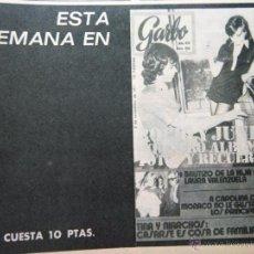 Coleccionismo de Revistas y Periódicos: RECORTE ROCIO DURCAL JUNIOR ANTONIO MORALES. Lote 51204877