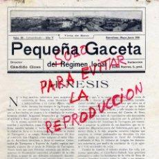 Coleccionismo de Revistas y Periódicos: REUS 1916 TARRAGONA REGIMEN LOCAL HOJA REVISTA. Lote 51224534