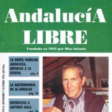 Coleccionismo de Revistas y Periódicos: REVISTA ANDALUCÍA LIBRE Nº 7 Y 8 SEPTIEMBRE Y OCTUBRE DE 1994 POLÍTICA ANDALUCÍA. Lote 51225518