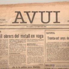 Coleccionismo de Revistas y Periódicos: DIARIO AVUI. Lote 51227228