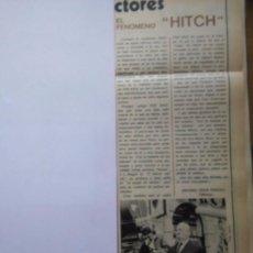 Coleccionismo de Revistas y Periódicos: RECORTE ALFRED HITCHCOCK. Lote 51235463