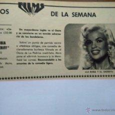 Coleccionismo de Revistas y Periódicos: RECORTE JAYNE MANSFIELD. Lote 51258416