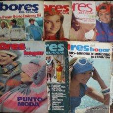 Coleccionismo de Revistas y Periódicos: LABORES DEL HOGAR 8 REVISTAS-PATCHWORK-JACQUARD-PUNTO CRUZ-MODA-PATRONES-VINTAGE-LABORES-RETRO+1975. Lote 51072857