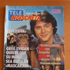 Coleccionismo de Revistas y Periódicos: REVISTA TELEINDISCRETA Nº 52 GREG EVIGAN CHALLENGER TELE-INDISCRETA. Lote 51363989