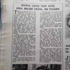 Coleccionismo de Revistas y Periódicos: RECORTE MARIA LUISA SAN JOSE. Lote 51365029