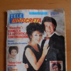 Coleccionismo de Revistas y Periódicos: REVISTA TELEINDISCRETA Nº 99 FALCON CREST DINASTIA ALASKA TELE-INDISCRETA. Lote 51395777