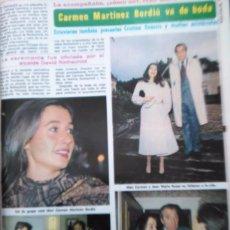 Coleccionismo de Revistas y Periódicos: RECORTE CARMEN MARTINEZ BORDIU. Lote 51412011