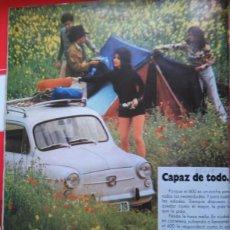 Coleccionismo de Revistas y Periódicos: RECORTE SEAT 600. Lote 51412604
