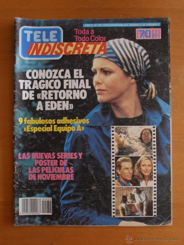 REVISTA TELEINDISCRETA Nº 38 MR. T EQUIPO A GNOMOS TELE-INDISCRETA (Coleccionismo - Revistas y Periódicos Modernos (a partir de 1.940) - Otros)