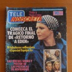 Coleccionismo de Revistas y Periódicos: REVISTA TELEINDISCRETA Nº 38 MR. T EQUIPO A GNOMOS TELE-INDISCRETA. Lote 51425692