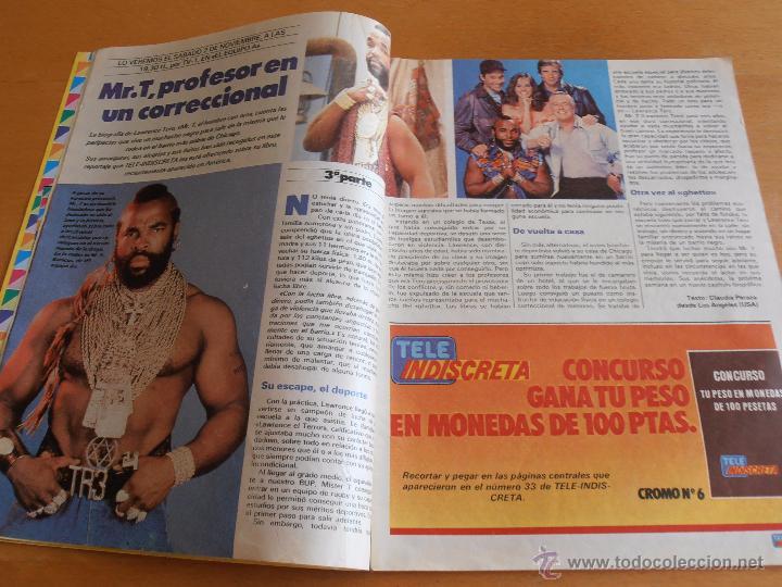 Coleccionismo de Revistas y Periódicos: REVISTA TELEINDISCRETA Nº 38 MR. T EQUIPO A GNOMOS TELE-INDISCRETA - Foto 3 - 51425692