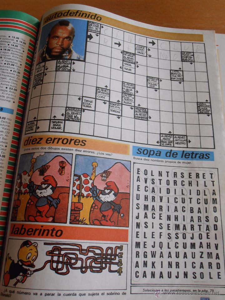 Coleccionismo de Revistas y Periódicos: REVISTA TELEINDISCRETA Nº 38 MR. T EQUIPO A GNOMOS TELE-INDISCRETA - Foto 4 - 51425692