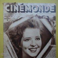 Coleccionismo de Revistas y Periódicos: CINÉMONDE. Nº 202. AÑO 1932 ( ESTÁ EN FRANCÉS ). Lote 51428450