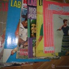 Coleccionismo de Revistas y Periódicos: LOTE 6 REVISTAS ANTIGUAS DE MODA LABORES DEL HOGAR AÑOS 50 60 Y 70. Lote 51449284