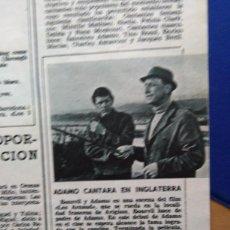 Coleccionismo de Revistas y Periódicos: RECORTE ADAMO. Lote 51453406
