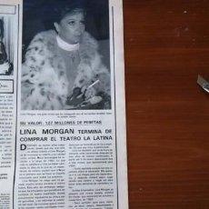 Coleccionismo de Revistas y Periódicos: RECORTE LINA MORGAN. Lote 51512750