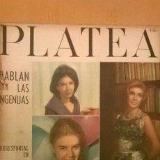 Coleccionismo de Revistas y Periódicos: REVISTA PLATEA Nº 94 (1962) - ATLANTIDA - ARGENTINA - NOTA A MARTIN KARADAGIAN - RARO. Lote 51514123