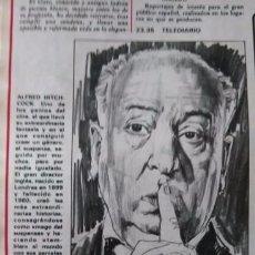 Coleccionismo de Revistas y Periódicos: RECORTE ALFRED HITCHCOCK. Lote 51515099