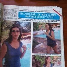 Coleccionismo de Revistas y Periódicos: RECORTE MARI CARMEN MARTINEZ BORDIU. Lote 51520096