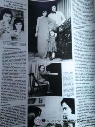 Coleccionismo de Revistas y Periódicos: recorte rocio durcal junior antonio morales - Foto 2 - 51520564