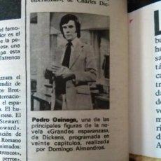 Coleccionismo de Revistas y Periódicos: RECORTE PEDRO OSINAGA. Lote 51535315
