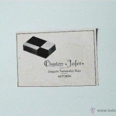 Coleccionismo de Revistas y Periódicos: PUBLICIDAD DE REVISTA ORIGINAL 1940. CHOCOLATES JOFER, ASTORGA. Lote 51560576