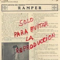 Coleccionismo de Revistas y Periódicos: RAMPER 1929 HUMORISTA ENTREVISTA 2 HOJAS REVISTA . Lote 51563719