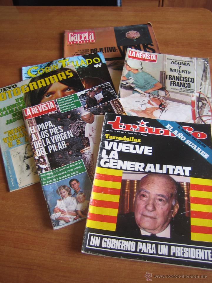 LOTE REVISTAS ANTIGUAS (Coleccionismo - Revistas y Periódicos Modernos (a partir de 1.940) - Otros)