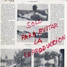 Coleccionismo de Revistas y Periódicos: AMPOSTA 1907 INUNDACIONES HOJA REVISTA. Lote 51657776