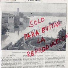 Coleccionismo de Revistas y Periódicos: LERIDA 1907 INUNDACIONES EN FABRICAS HOJA REVISTA. Lote 51657862