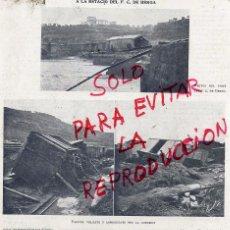 Coleccionismo de Revistas y Periódicos: BERGA 1907 TREN INUNDACIONES HOJA REVISTA. Lote 51657921