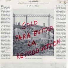 Coleccionismo de Revistas y Periódicos: MANRESA 1907 INUNDACIONES HOJA REVISTA. Lote 51658066