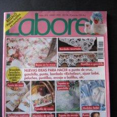 Coleccionismo de Revistas y Periódicos: REVISTA LABORES DEL HOGAR. NÚMERO 412. JUNIO 1992. INCLUYE PATRÓN DE BOLILLOS EN CARTULINA.. Lote 51659945