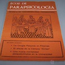 Coleccionismo de Revistas y Periódicos: ECOS DE PARAPSICOLOGÍA, NÚMERO 1.1974.ED. RAMÓN PLANA. RARO.. Lote 51663536