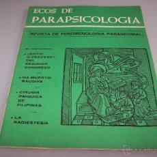 Coleccionismo de Revistas y Periódicos: ECOS DE PARAPSICOLOGÍA, NÚMERO 3.1974.ED. RAMÓN PLANA. RARO.. Lote 51663577