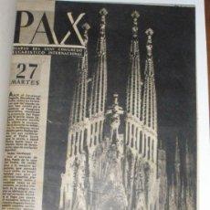 Coleccionismo de Revistas y Periódicos: PAX DIARIO DEL XXXV CONGRESO EUCARISTICO INTERNACIONAL BARCELONA 1952 7NÚMEROS COMPLETO ENCUADERNADO. Lote 51730197