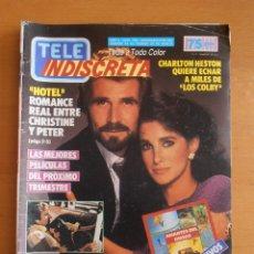 Coleccionismo de Revistas y Periódicos: REVISTA TELEINDISCRETA Nº 109 HOTEL LOS COLBY POSTER COCODRILO DUNDEE TELE-INDISCRETA. Lote 51768775