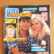 Coleccionismo de Revistas y Periódicos: REVISTA TELEINDISCRETA Nº 104 PATRICK SWAYZE ORRY MAIN EQUIPO A TELE-INDISCRETA. Lote 51769168