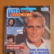 Coleccionismo de Revistas y Periódicos: REVISTA TELEINDISCRETA Nº 176 PAUL NEWMAN JOAN COLLINS TELE-INDISCRETA. Lote 51785227