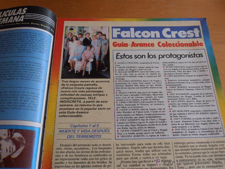Coleccionismo de Revistas y Periódicos: REVISTA TELEINDISCRETA Nº 153 MADONNA TOM CRUISE LINA MORGAN TELE-INDISCRETA - Foto 3 - 51807994