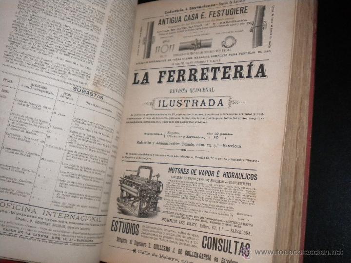 Coleccionismo de Revistas y Periódicos: Marcas de fabrica / industria e invenciones / geronimo bolibar / tomo VIII / 1887 - Foto 2 - 51892958