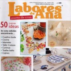 Coleccionismo de Revistas y Periódicos: LABORES DE ANA PUNTO DE CRUZ N. 228 (NUEVA). Lote 180225741