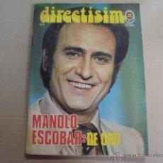 Coleccionismo de Revistas y Periódicos: DIRECTISIMO Nº 5- MANOLO ESCOBAR - 1975 - DANN - SAVALAS - MIGUEL RIOS - JOHN VALAN PUERTA. Lote 52004309