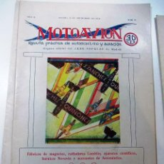 Coleccionismo de Revistas y Periódicos: LOTE DE 4 ANTIGUAS REVISTAS PRACTICA MOTOAVION AÑO 1929. Lote 52306196