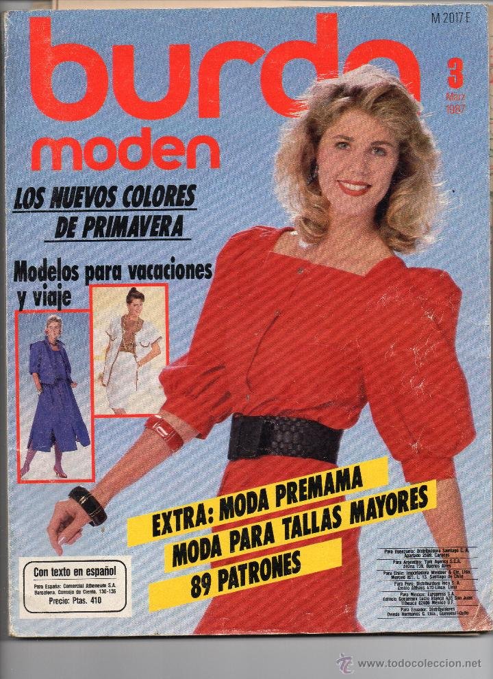 d1253d6d9 Revista burda con patrones 3 de 1987 - Sold at Auction - 52388375