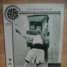 Coleccionismo de Revistas y Periódicos: REVISTA ALGO Nº 349 ABRIL DE 1936 - FIESTAS DE MOROS Y CRISTIANOS. Lote 52451202