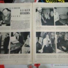 Coleccionismo de Revistas y Periódicos: RECORTE INGRID BERGMAN ALFRED HITCHCOCK GREGORY PECK. Lote 52521839