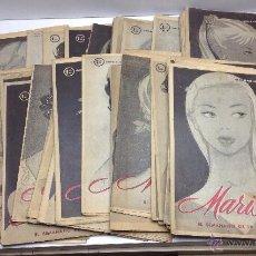 Coleccionismo de Revistas y Periódicos: LOTE DE REVISTA MARISOL 42 EJEMPLARES AÑOS 1955/56. Lote 52541782