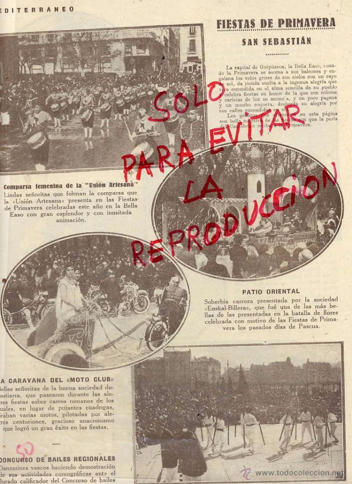 san sebastian 1929 fiestas de primavera hoja re - Comprar Revistas y ...